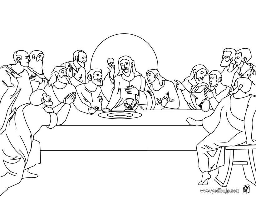 Dibujos de última cena de Jesus para niños