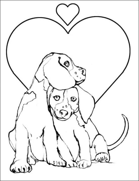 Dibujos de Perros Enamorados para pintar, Dibujos de Animales ...