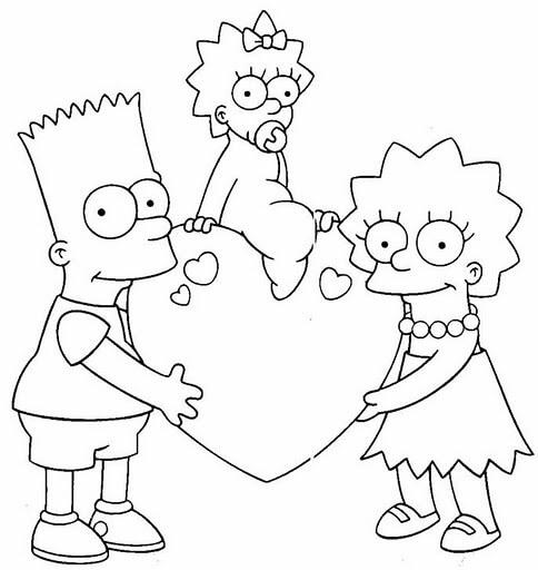 Dibujos de Bart simpson para pintar